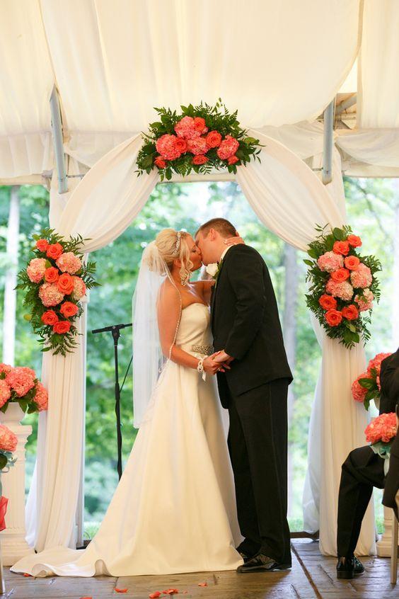 Ashley & Robert's {Coral & Tiffany Blue} Summer Wedding|Photographer:  Candace Jeffery Photography