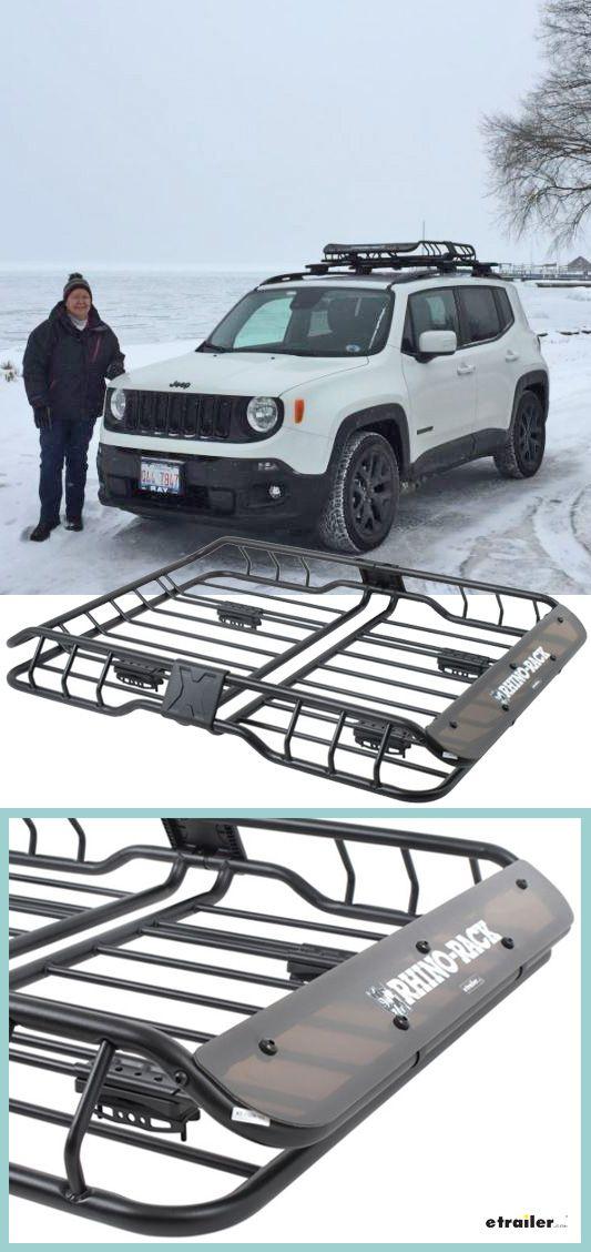 Rhino Rack Roof Mounted Steel Cargo Basket 47 Long X 35 Wide 165 Lbs Rhino Rack Roof Basket Rm Roof Basket Roof Rack Jeep Patriot
