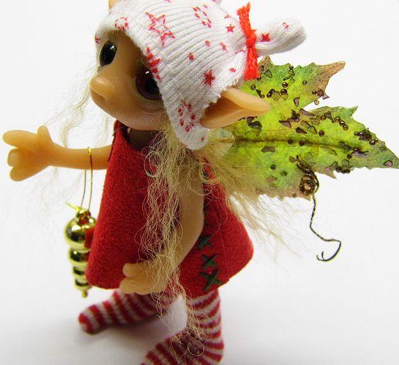 Christmas fairy Noella by Woodlandkreatures