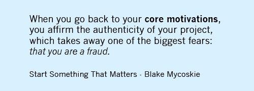 Start Something That Matters by Blake Mycoskie.
