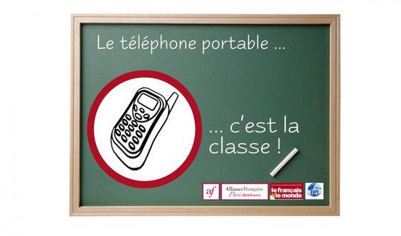 Concours pour les enseignants de #fle : le téléphone portable, c'est la classe !