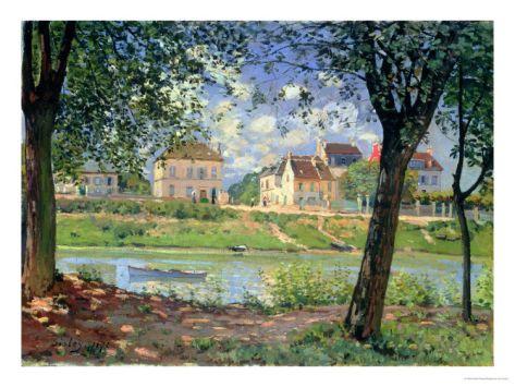 Villeneuve-La-Garenne, 1872 Giclee Print by Alfred Sisley at eu.art.com