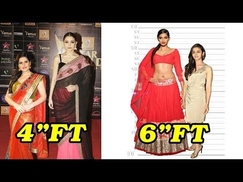 Shortest And Tallest Bollywood Actresses Shocking Height Bollywood Actress Bollywood Actresses