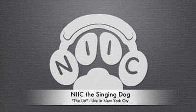 """NIIC the Singing Dog's LIVE performance of """"The List"""" from December 2014!  https://youtube.com/watch?v=wi9Uonsuf7M"""