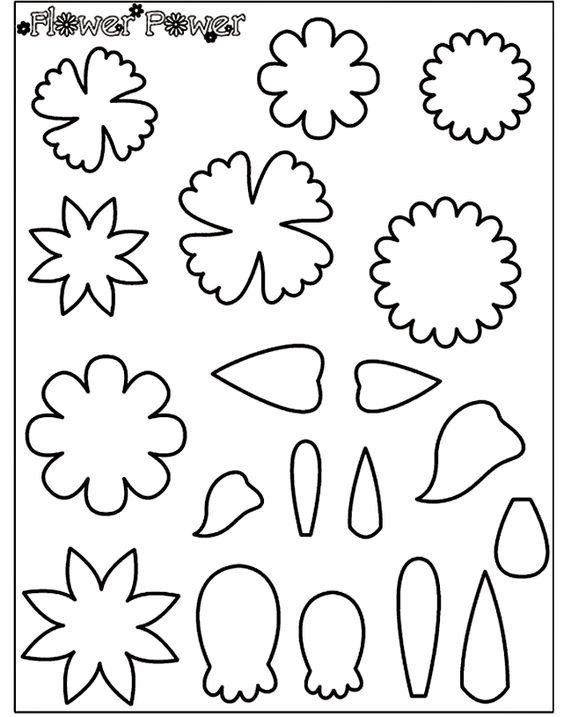 Crayola coloring page pattern for felt creations flower for Felt coloring pages