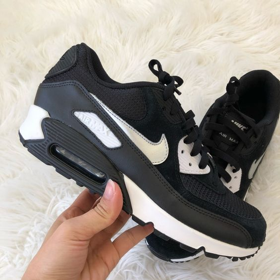 Nike Shoes |  New Nikeid Womens Air Max 90 ~ 10 | Color: Black/White | Size: 10