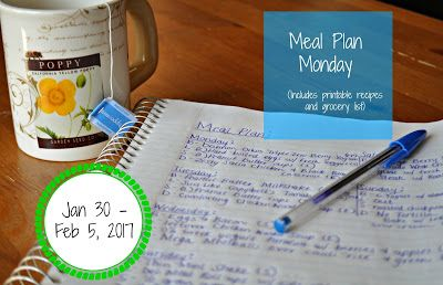 Darcie's Dishes: Meal Plan Monday: 1/30-2/5/17 ~ A one week meal plan that is 100% Trim Healthy Mama compliant. The meal plan is printable and has a companion shopping list that is printable as well.