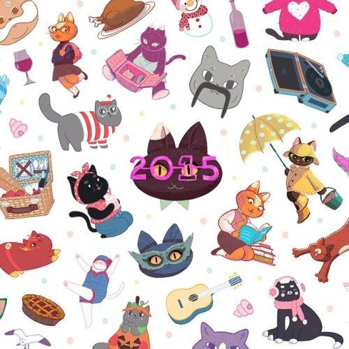 COURTNEY X JONGMEE 2015 CAT CALENDAR is coming real soon! Soo...