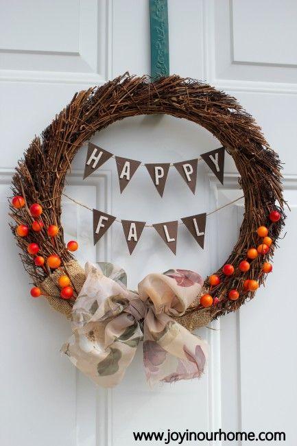 Cute Fall Wreath Easy To Make Autumn Leaves