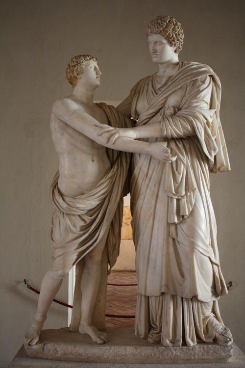 Orestes Electra Statue Roman Sculpture Funny Art