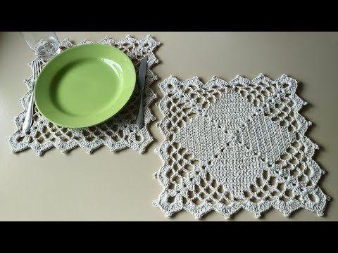 Jogo Americano Em Croche Sousplat Retangular Youtube Crochet Edging Patterns Crochet Doily Patterns Crochet Patterns