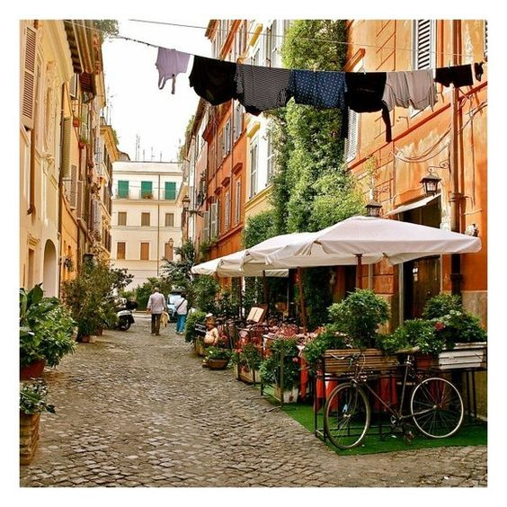 Rome Italy Italian Photography Trastevere Rome ❤ liked on Polyvore