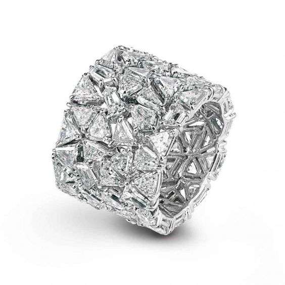 Cigar Band Diamond Ring by Chopard | More here: http://mylusciouslife.com/photo-galleries/bling-fling/
