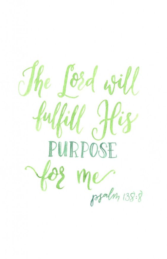 Psalm 138:8: