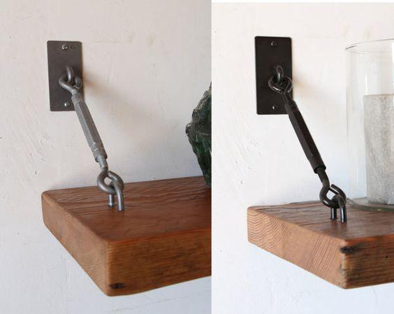 Set Of 2 Turnbuckle Shelf Brackets For Floating Shelves