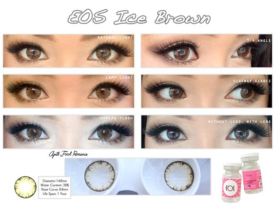 eos ice brown - Coloration Eos