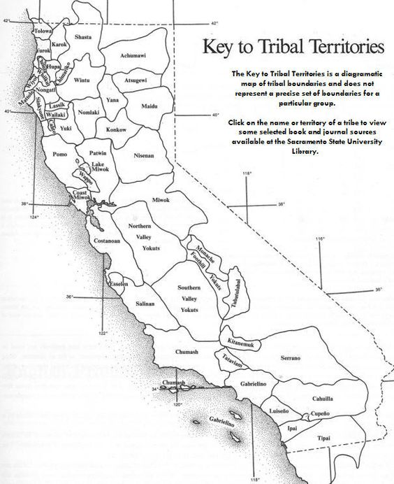 key to tribal territories map Google Search California History