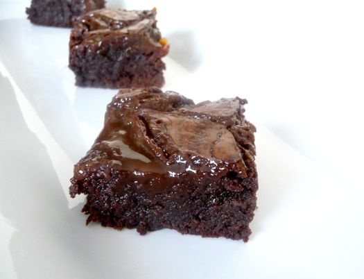 I used this salted caramel recipe but make my own brownies.