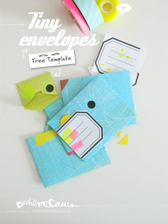 tiny envelopes free printable decorative envelopes pinterest