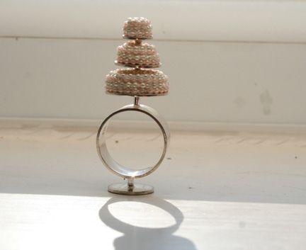 Marie Antoinette.. let them eat cake. ..ring by Marie Louise Kristensen