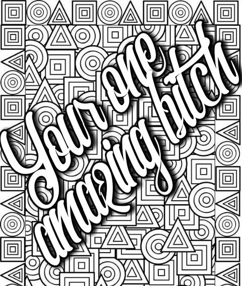 Pin By Valarie Ante On Color Me Sweary Coloring Pages Free Adult