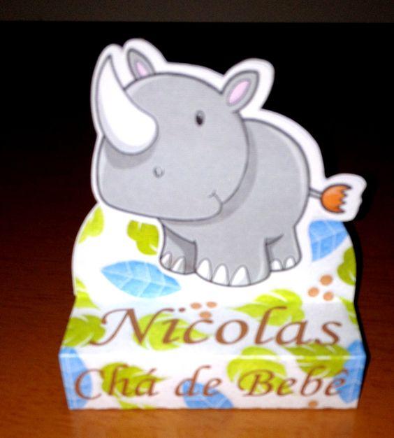 Caixa Bis Duplo - Safari - Hipopótomo