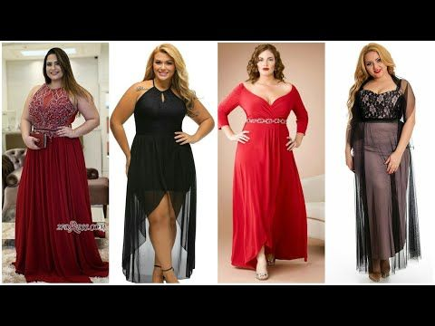 فساتين سهرة للأجسام الممتلئة موديلات تجنن للسمينات فساتين منوعة بالدانتيل والتطريز والشيفون Youtube Dresses Bridesmaid Dresses Wedding Dresses