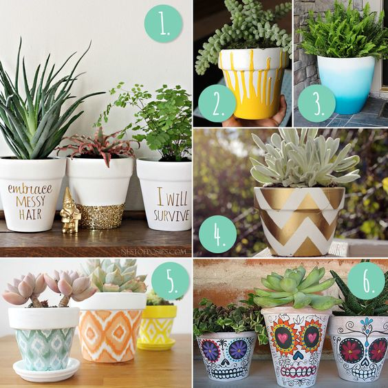 10 more diy flower pot painting ideas blog photos and flower pots
