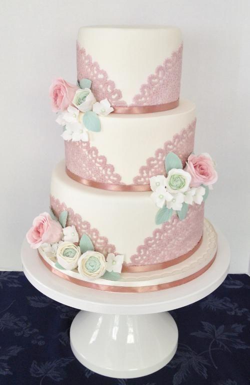Centrino Vintage torta da sposa in pizzo