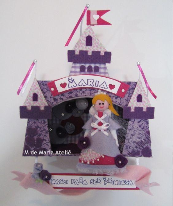 Enfeite de porta Maternidade - Castelo do blog M de Maria Ateliê