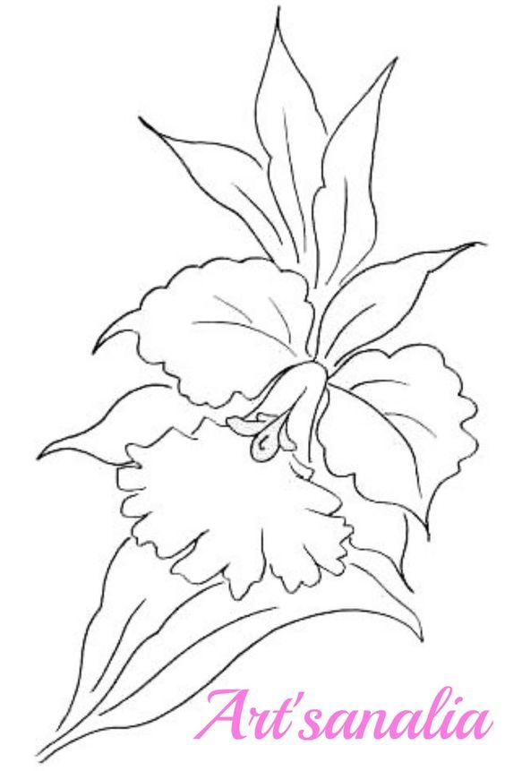 Artsanália Riscos para pintar orquídeas!
