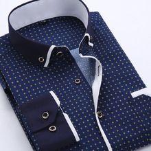 2016 estilo del verano a estrenar hombres camiseta de manga larga Chemise Homme ajuste delgado las camisas sport moda hombres ropa Camisa Masculina Social
