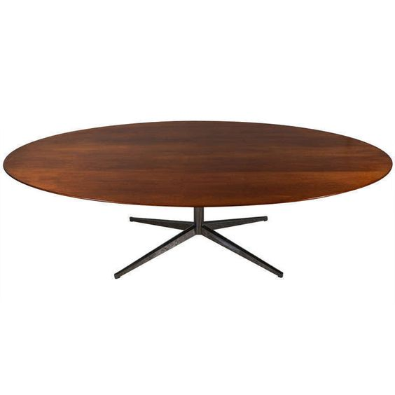 Walnut Eight Foot Oval Dining Table by Florence Knoll   From a unique collection of antique and modern dining room tables at http://www.1stdibs.com/furniture/tables/dining-room-tables/