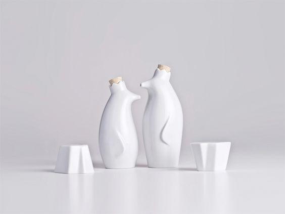 Oil & Vinegar Penguins with Salt & Pepper Icebergs