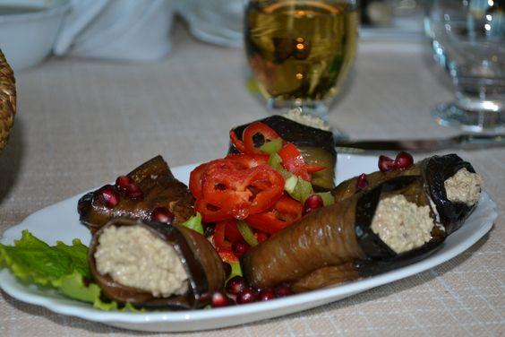 Stuffed Eggplant with wallnuts #GeorgianCuisine