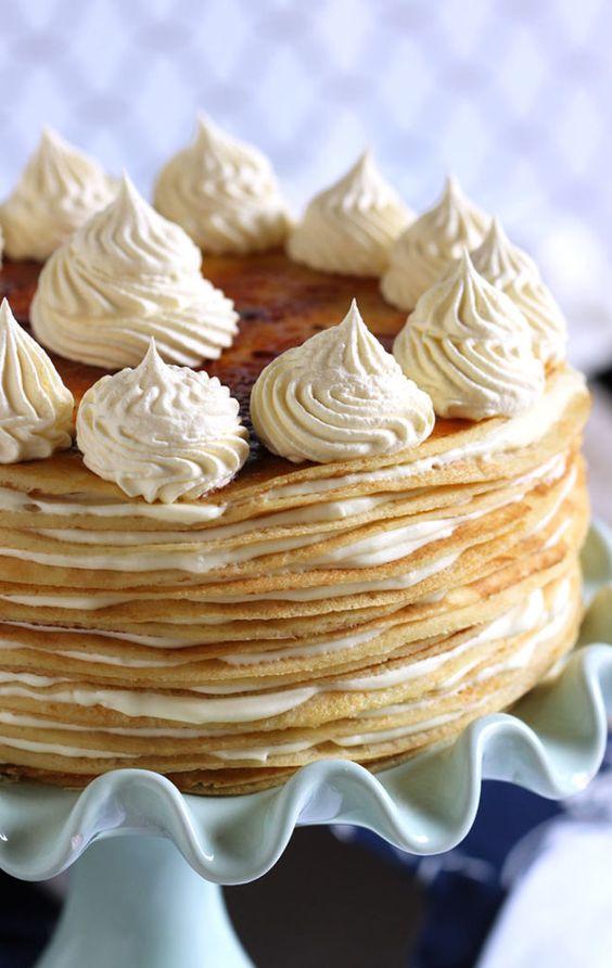 ... lemon flavor packed into this easy to make Lemon Mascarpone Crepe Cake