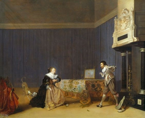Lady and Gentleman in an Interior, 'A startling Introduction'