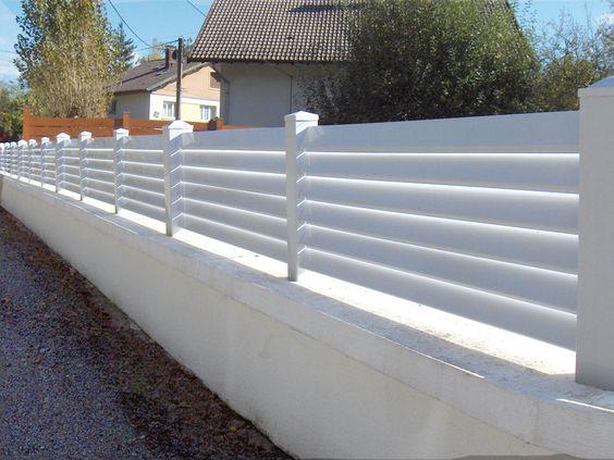 Clôture PVC lisse
