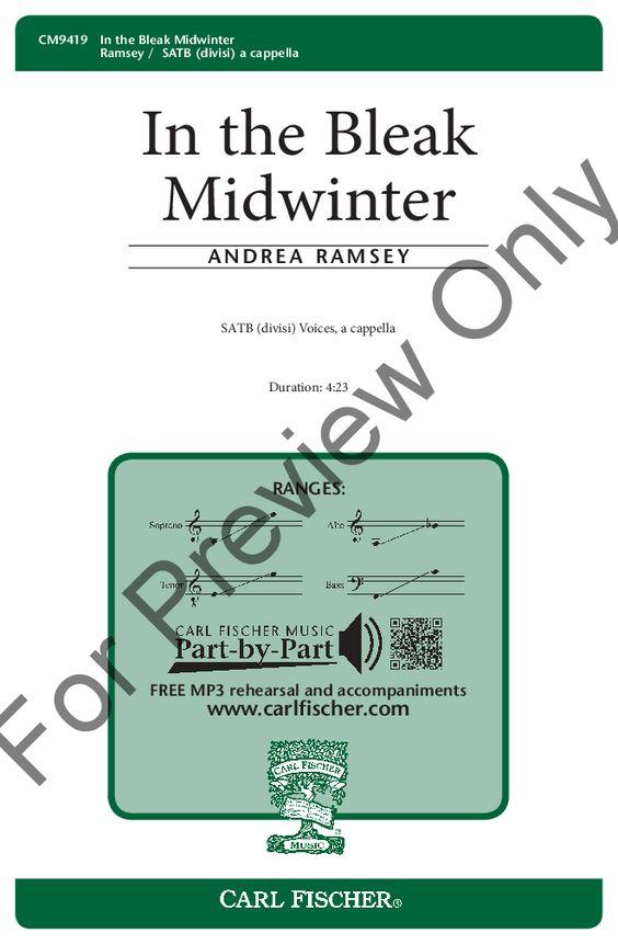 In the Bleak Midwinter (SATB ) by Andrea Ram   J.W. Pepper Sheet ...