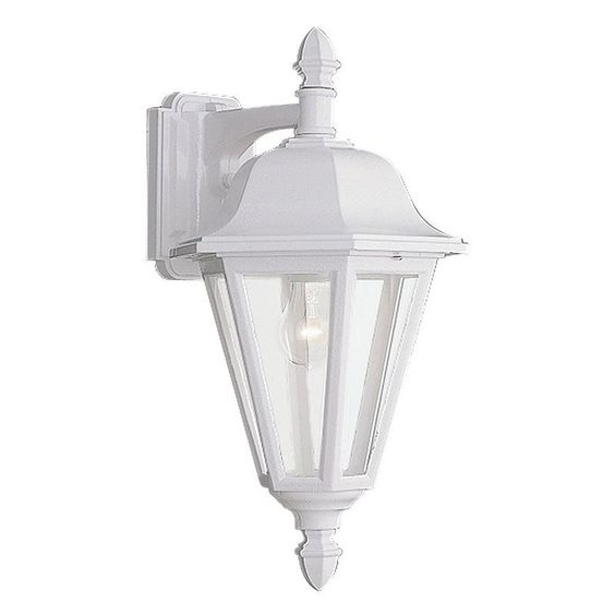 Sea Gull Outdoor Lighting: Sea Gull Lighting 8825 Classic Cast Outdoor 1 Light Lantern Wall Sconce  White Outdoor Lighting Wall,Lighting