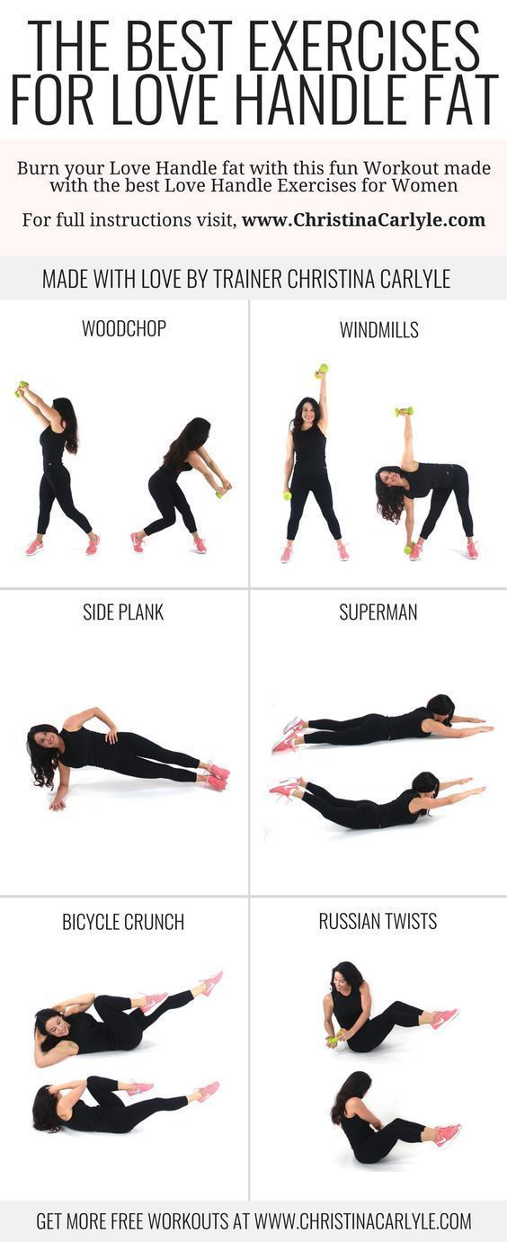exercises to lose stomach fat and love handles