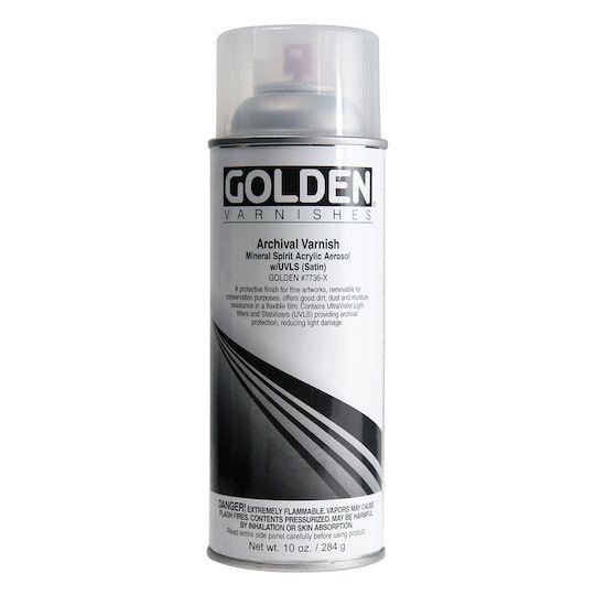 Golden Archival Varnish Spray Satin Michaels Satin Professional Painters Acetone