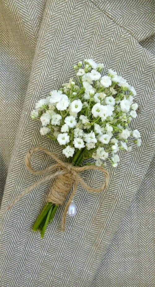 Cute Rustic Boutonniere Follow Maude And Hermione On Pinterest For More Wedding Ideas And Inspi Wedding Flowers Babys Breath Boutonniere Rustic Boutonniere