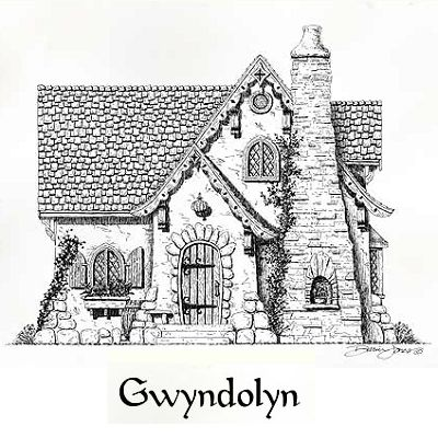 Miniature castle gwyndolyn cottage is a large one bedroom for Storybookhomes com