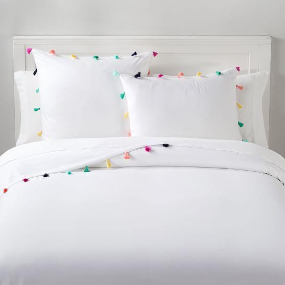 Tassel Duvet Cover Sham Girls Duvet Covers Kids Duvet Cover Bed Linens Luxury