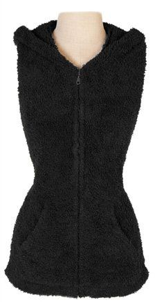 Barefoot Dreams Cozychic Sleeveless Hoodie, Color: Midnight, Size Small $94.95
