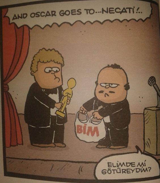 Oscar goes to... BİM mall avm market supermarket karikatür komedi dram: