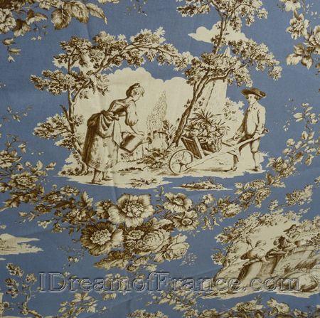 le cluny cotton tablecloth toile de jouy pastorale blue. Black Bedroom Furniture Sets. Home Design Ideas