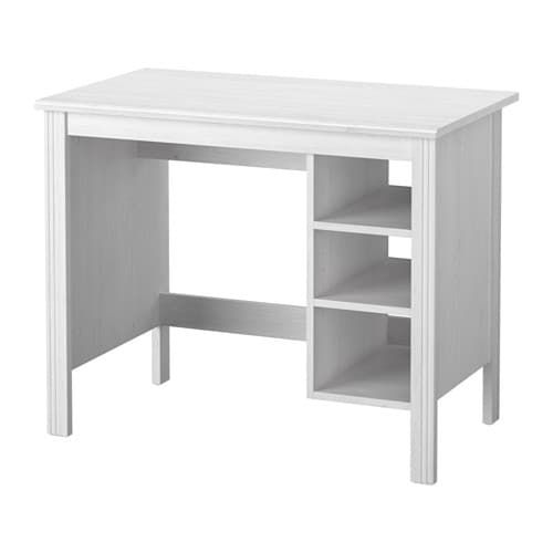 Brusali Desk White 90x52 Cm Ikea Ikea Brusali Ikea Brusali