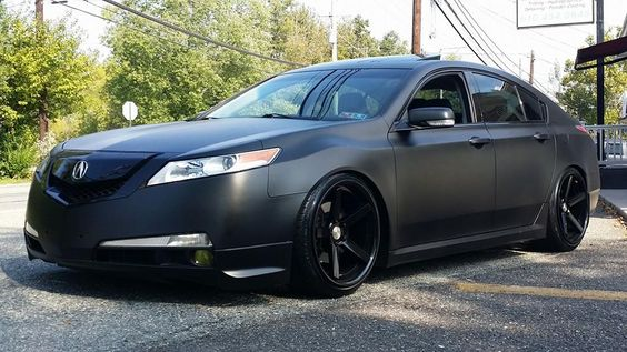 Project Black Out - Halo EFX Cover Black dip on an Acura TL.  Check out www.gowith360.com for more custom dips and dip colors!